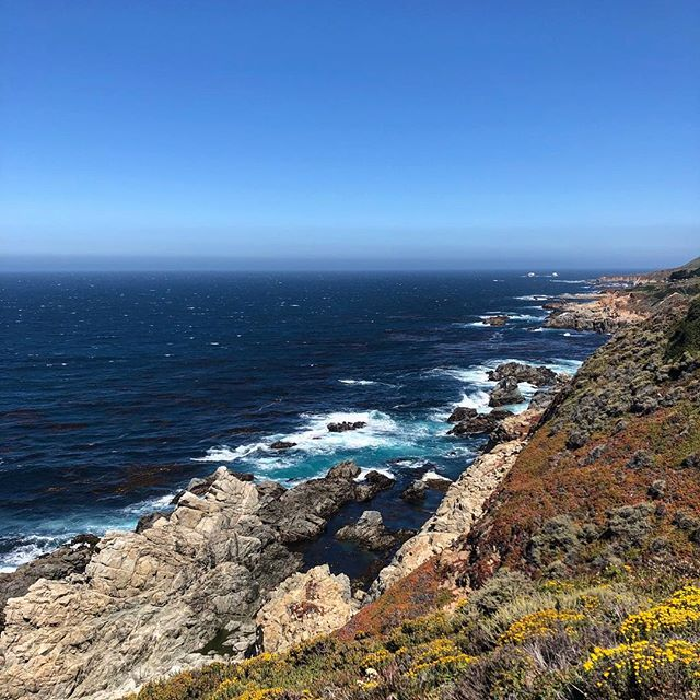 Beautiful, but windy, day along the coast. Too windy to fly so just soaking in the scenery instead. #pacificcoasthighway #bigsur #california #coastline