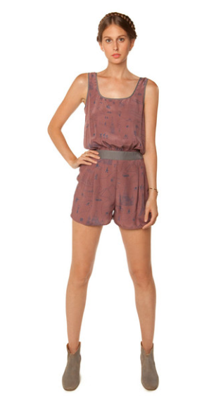 Cat Print Soft Romper Original Price= $369.00 Final Sale Price= $110.00