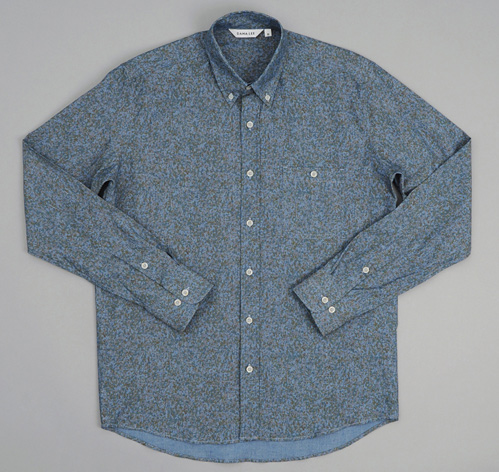Dana Lee Printed Chambray Melamine Shirt Original Price= $242.00 Final Sale Price= $121.00