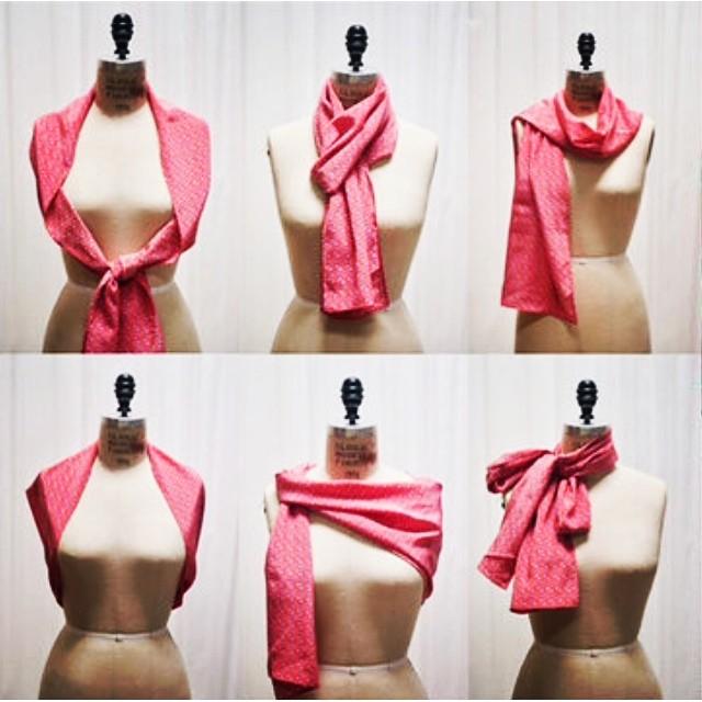 The many ways to wear our Obelia silk scarf #versatile #silkscarf #textiledesign