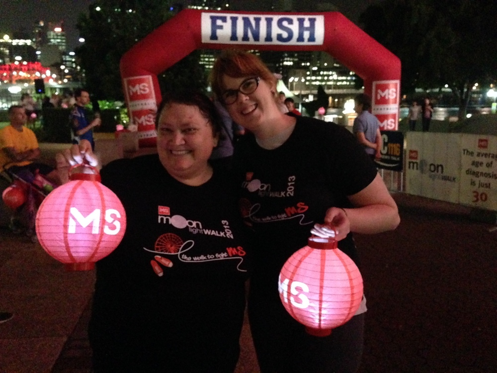 Julie & Veronica feeling a sense of accomplishment upon finishing!