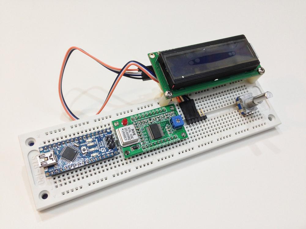 iPhone photo - Arduino Nano + AD9850 + LCD + rotary encoder