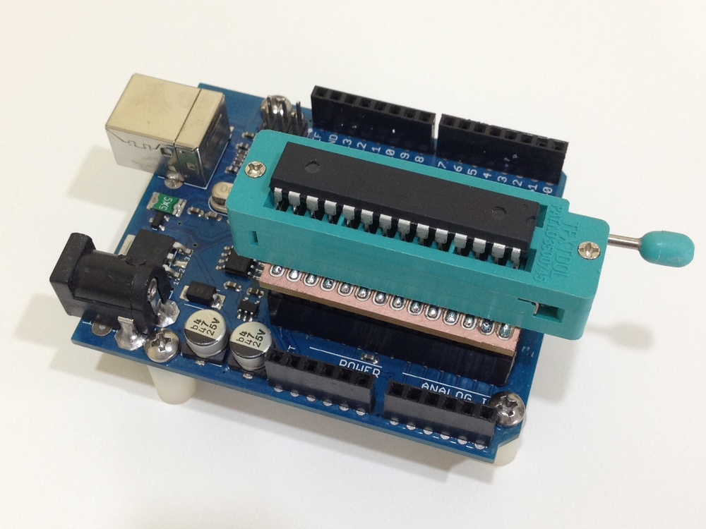 I removed the dip for the ATMEGA328