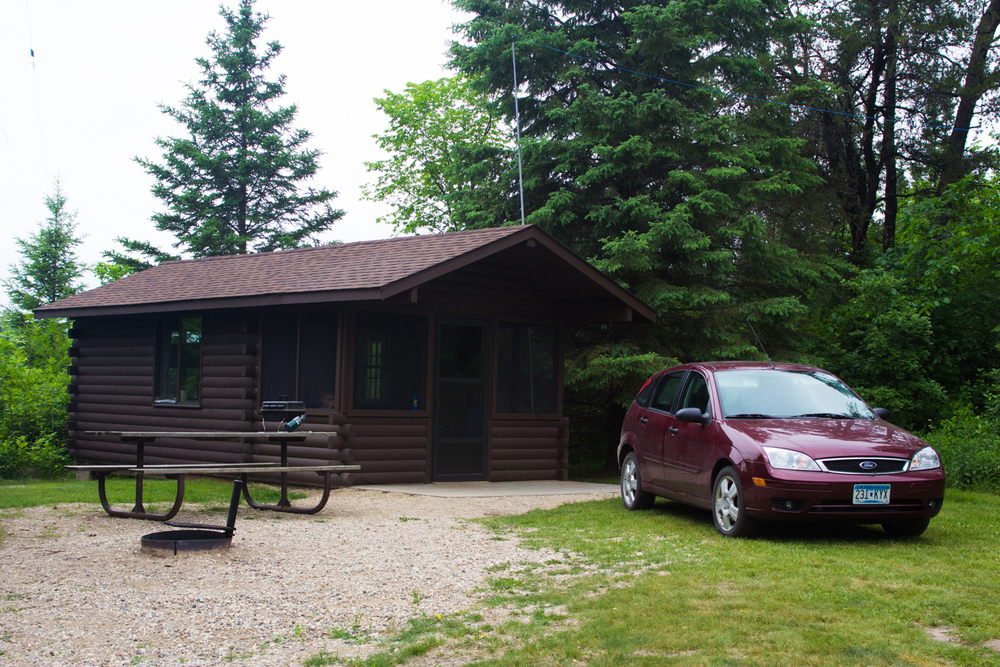 Camper Cabin #3 at Hayes Lake State Park