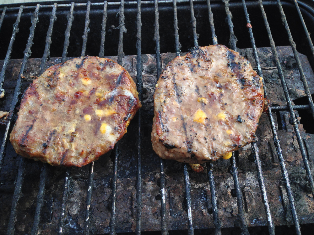 Burgers on the grill for a couple of meals