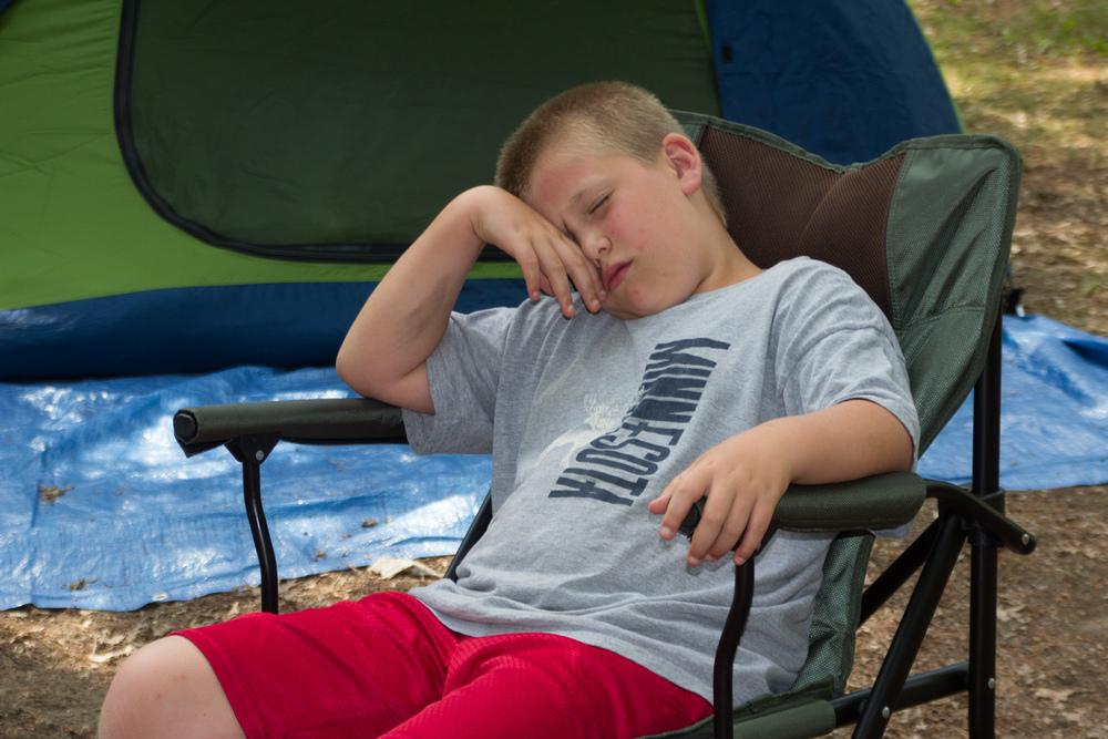 Joe thinking about taking a nap
