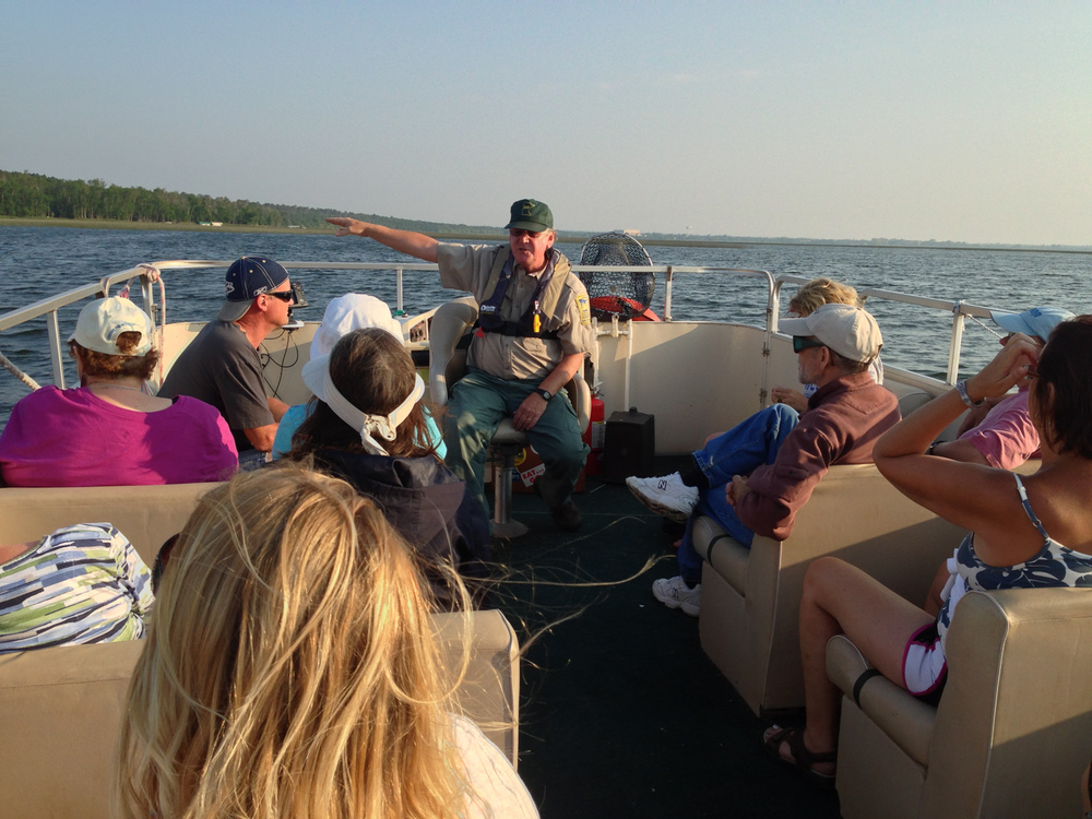 A 2 hour boat tour with the DNR naturalist as the host