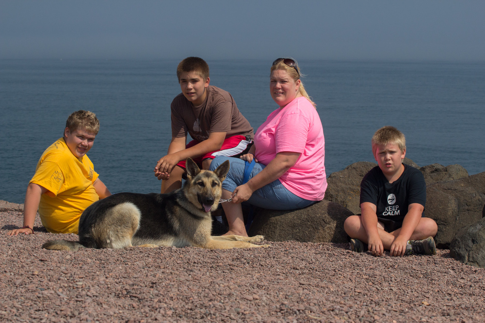 Jacob, Ben, Cristy, Joe, and Max the Wonder Dog