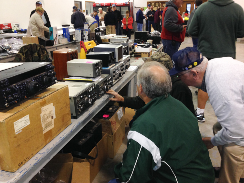 Old guys looking at old radios.  :-)