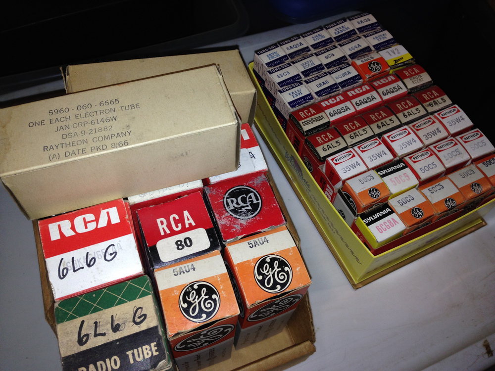 Tubes in NOS (new old stock) boxes