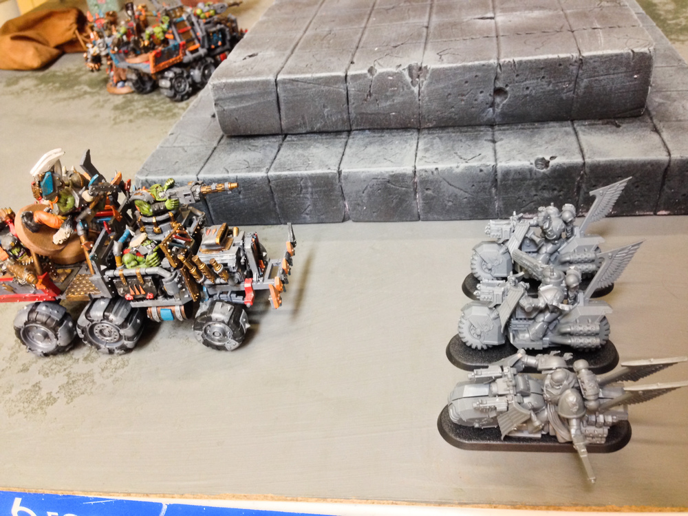 A portion of the armies facing off for battle