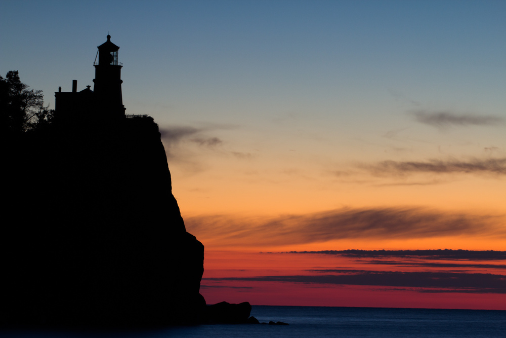 Sunrise at Split Rock light house on Lake Superior