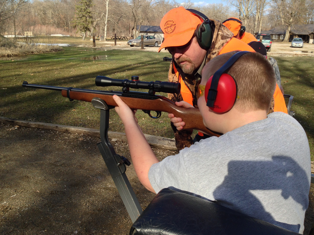 Joe and his instructor getting setup on range day