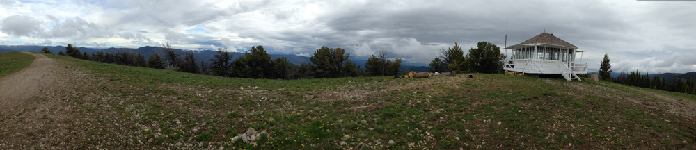 Welcome to the top of the mountain at 7450 feet AGL