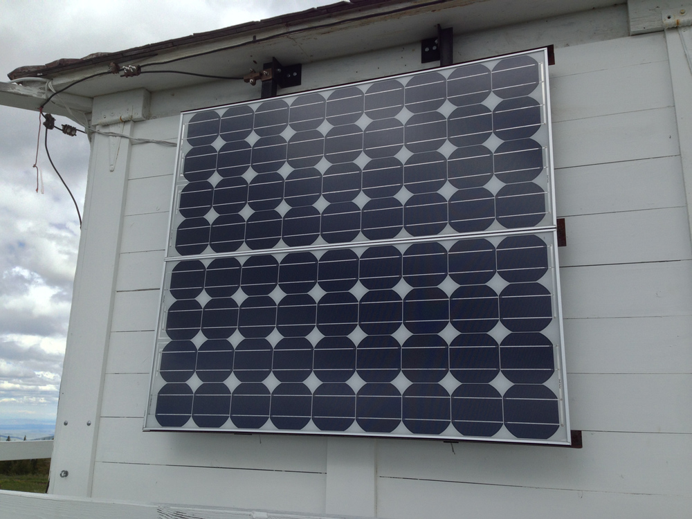 An added bonus at this site... they have two solar panels and deep cycle batteries that we tied into