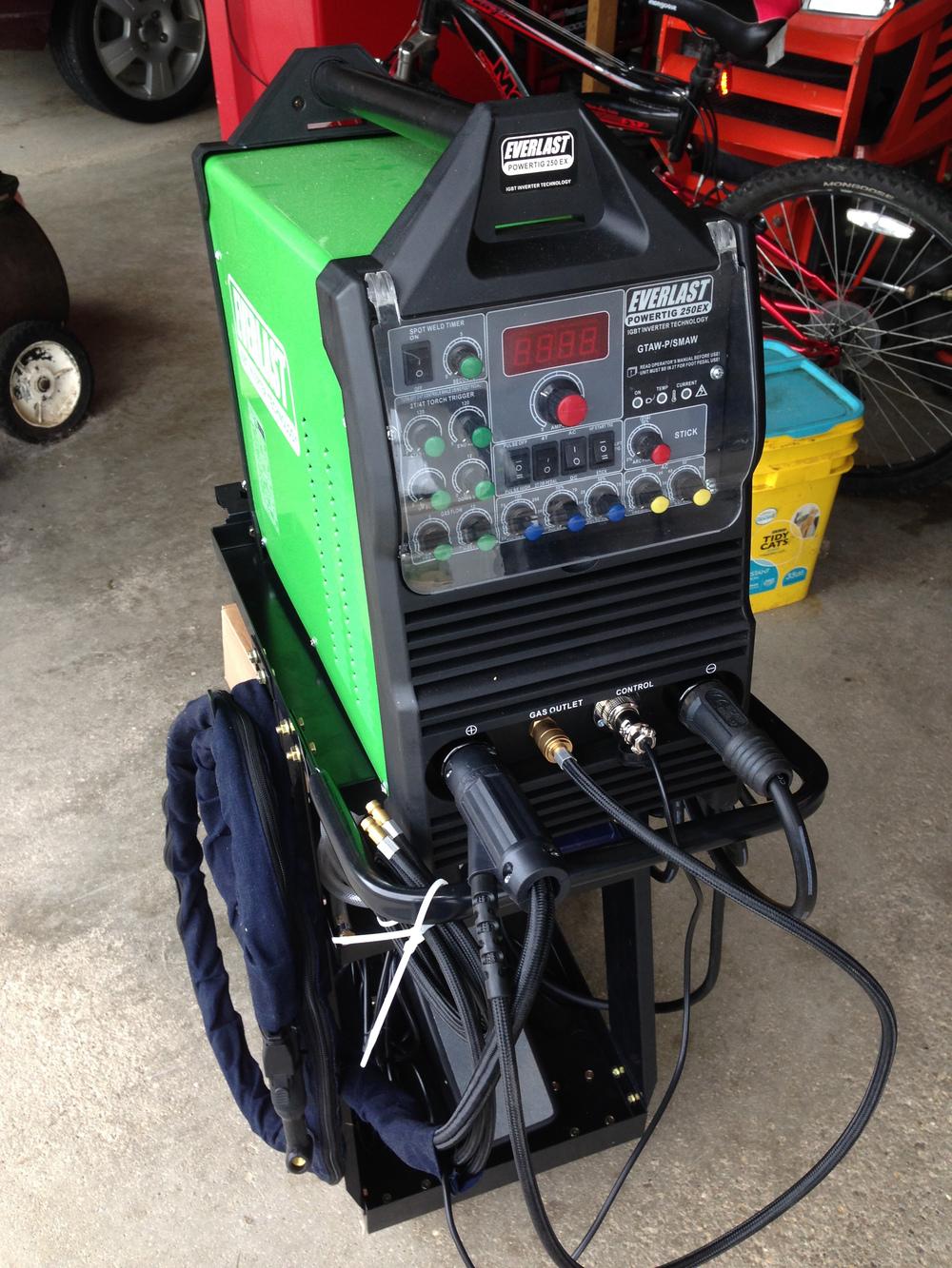Everlast 250 amp Tig welder