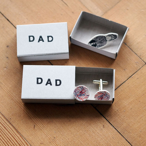 DIY Cufflinks from your child's drawing