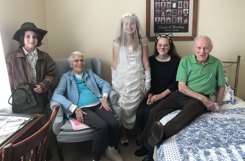 Halloween at my grandparent's assisted living home. I am forever grateful for these amazing people!
