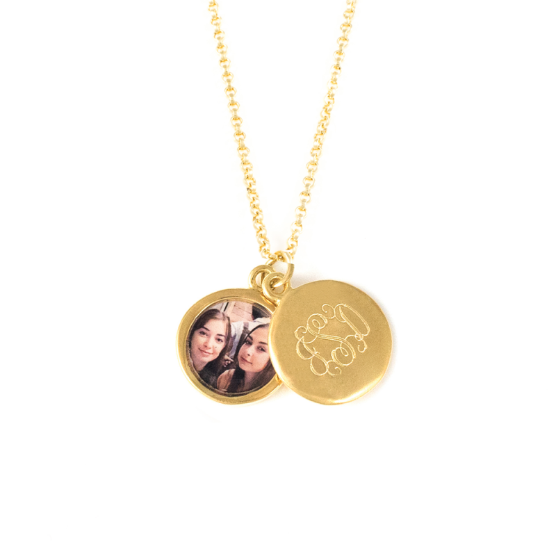14k Gold Monogram Locket