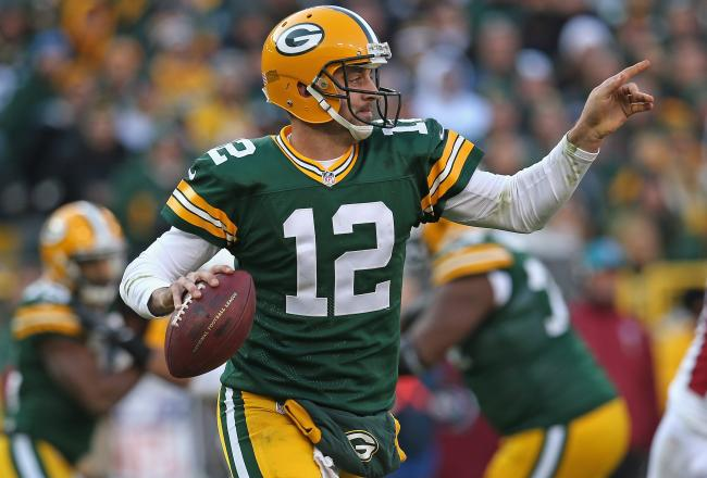 AARON RODGERS , GREEN BAY PACKERS (Jonathan Daniel/Getty Images)