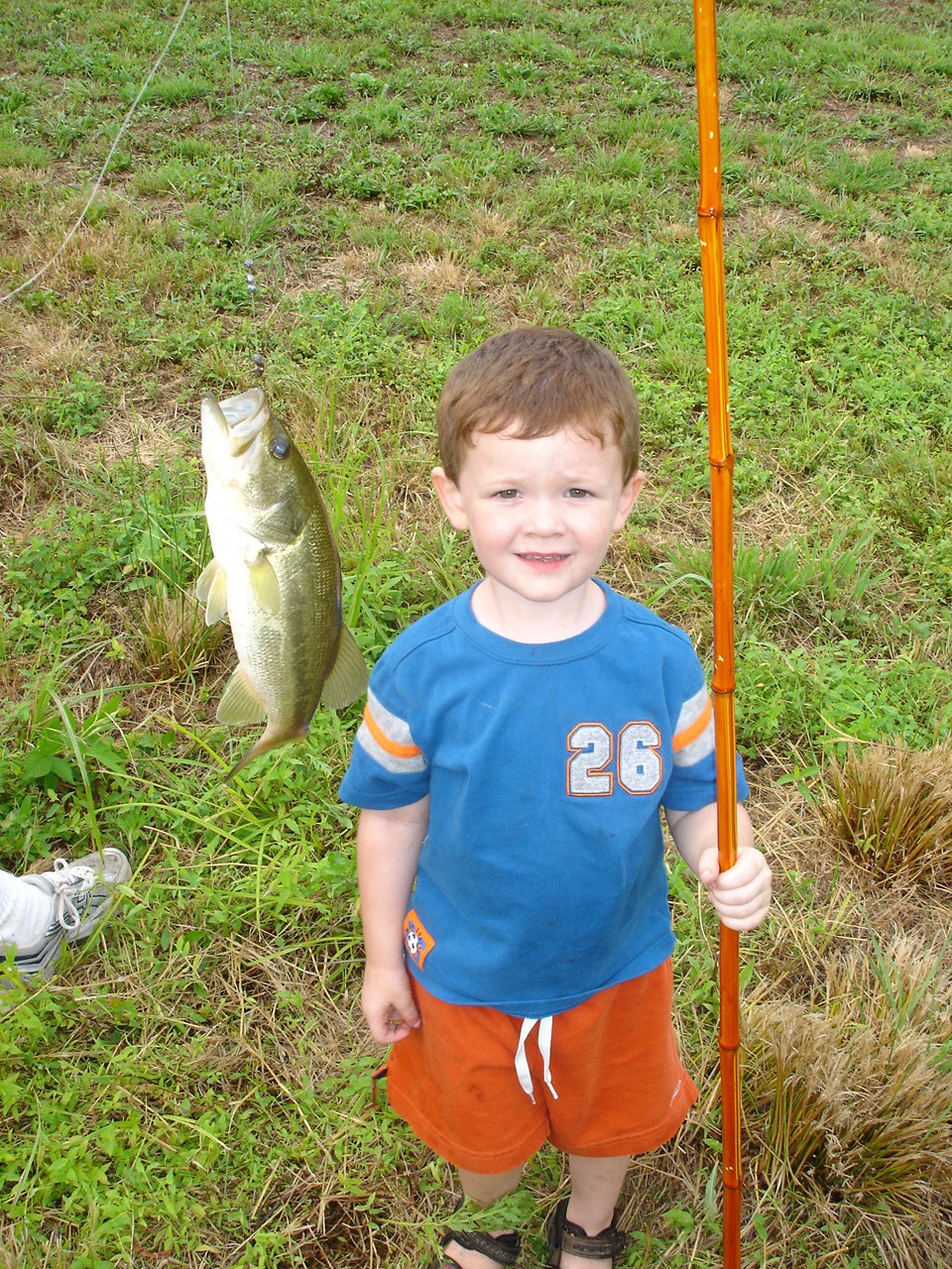 One of His Very First Fish