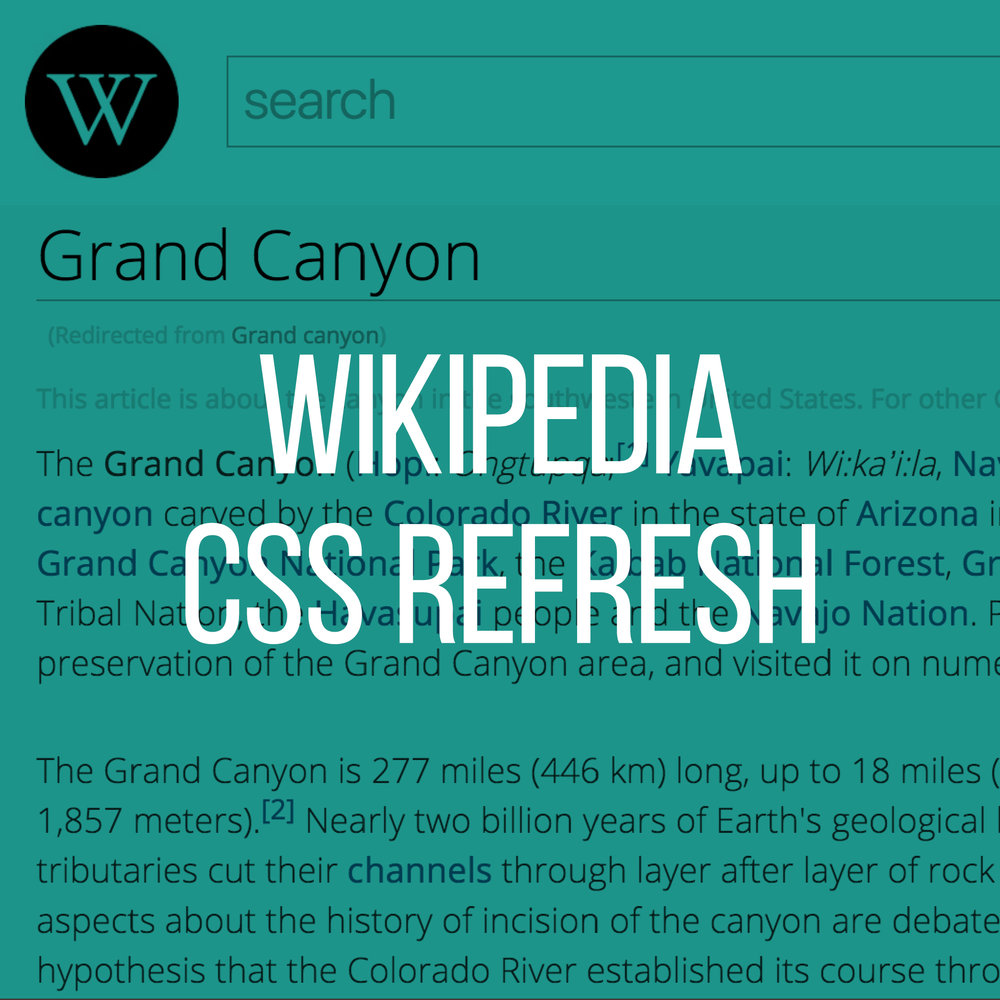 Wikipedia Quick Redesign CSS Refresh
