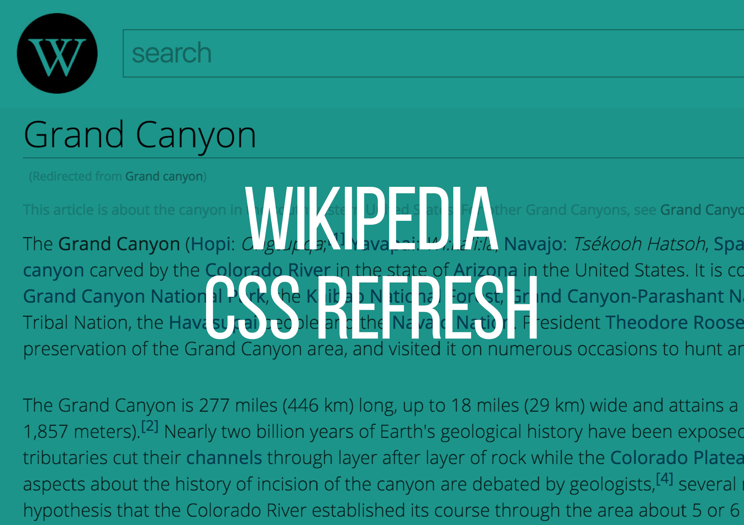 45347eba197cc Wikipedia CSS Refresh — Brandon Detherage