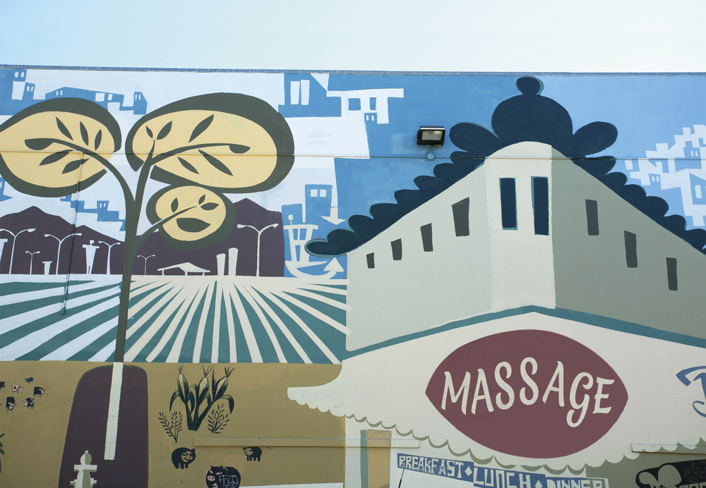 Mural painted by Brian Barneclo