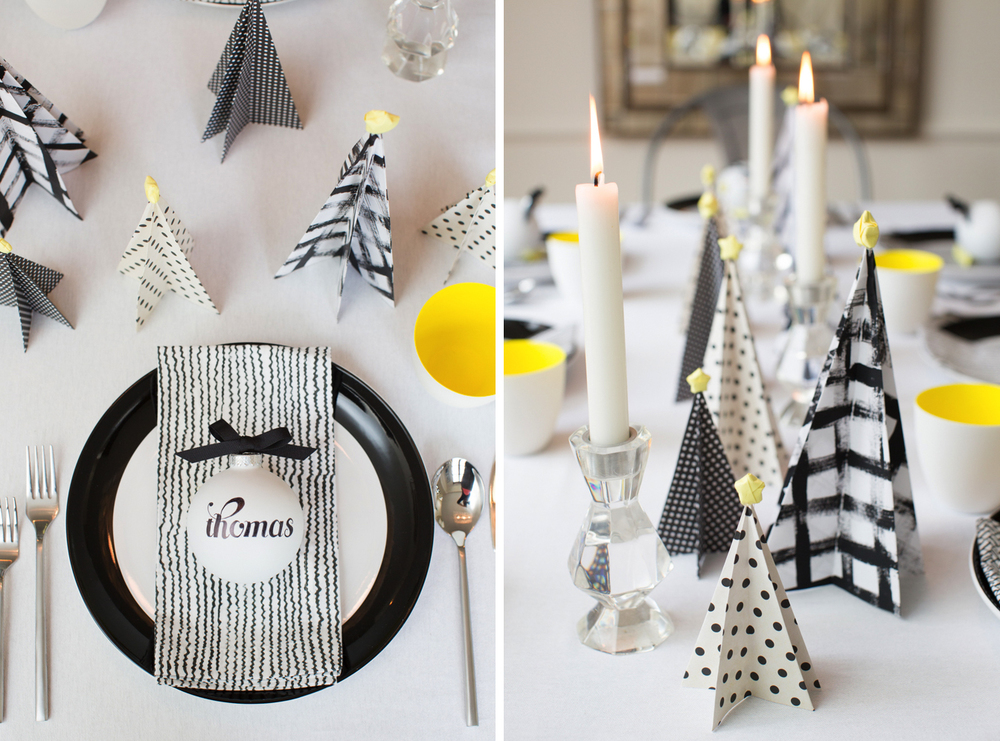 holiday_table_setting_modern_black_and_white_table_paper_christmas_trees_polka_dots_hanaluluco_charliejuliet.jpg