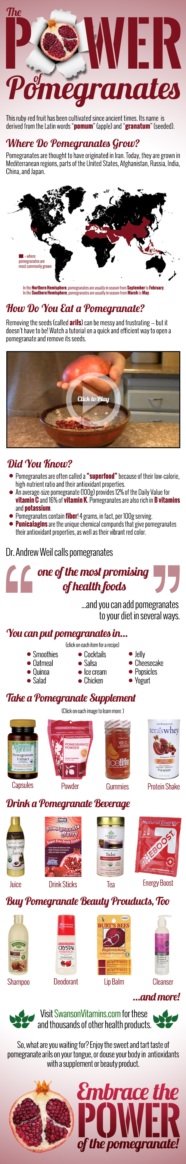 All About Pomegranates