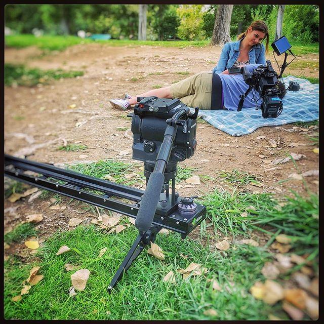 Seen on my run. @kesslercrane Cineslider on location at #tulespringsranch. I jumped right in to snag the photo. 😜 Thanks guess for letting me interrupt production. #floydlambpark #tulesprings #videoproduction #filmproduction #lasvegas