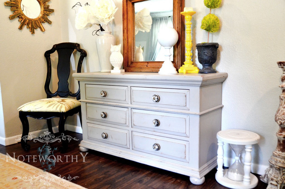 Light Grey Double Dresser