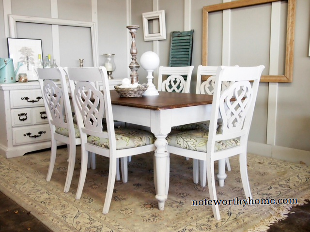 White and Maple Farm House Table