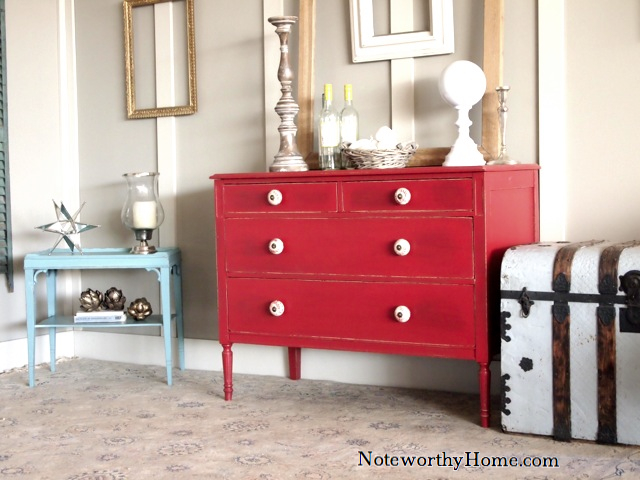 Red Antique Chest