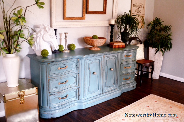 Weathered Blue Buffet