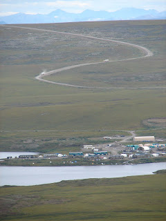 Toolik and the Dalton Highway from the top of Jade Mountain!