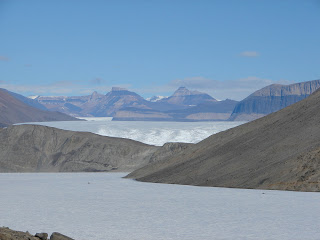 A view looking up-valley towards the Taylor Glacier