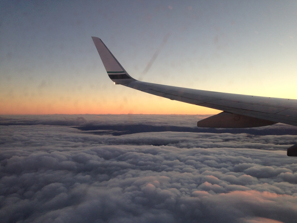 Sunset from the air!