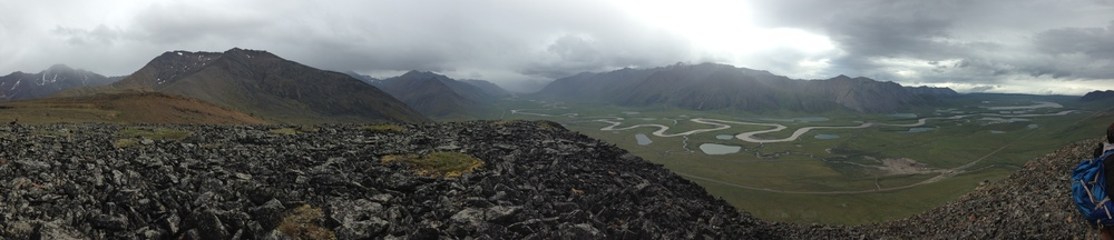 The view of the Sagavanirktok River from a ridge adjacent to the China Valley.