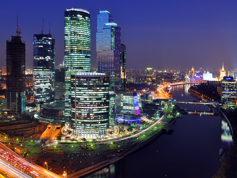 "Moscow's business district, aka ""Moscow City"""