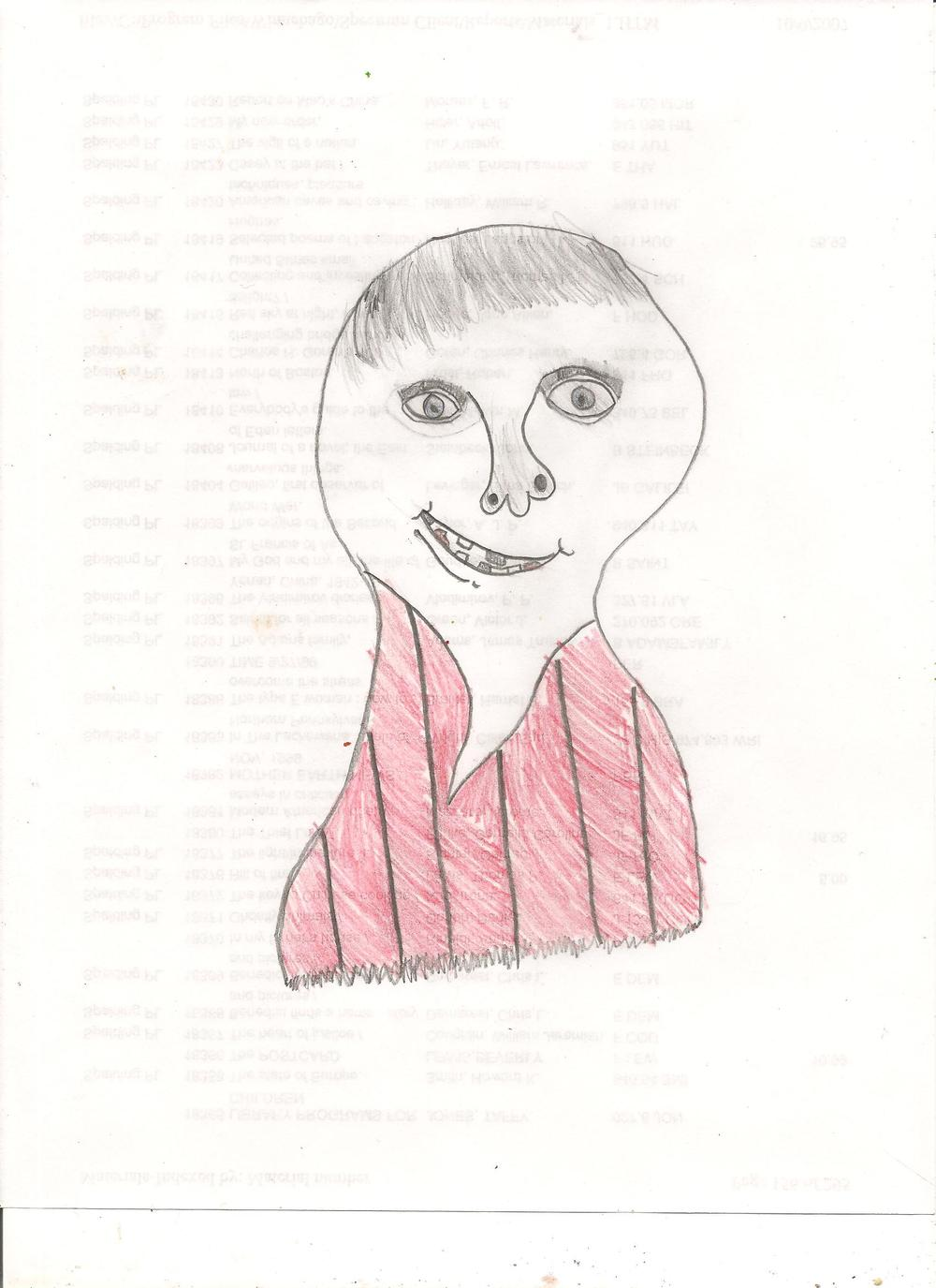 Self portrait, approx. age 6