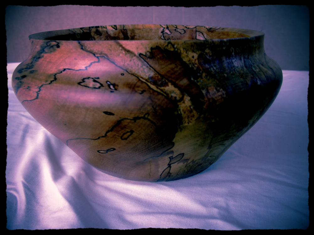 Spalted maple bowl, Ross Gigee 2010