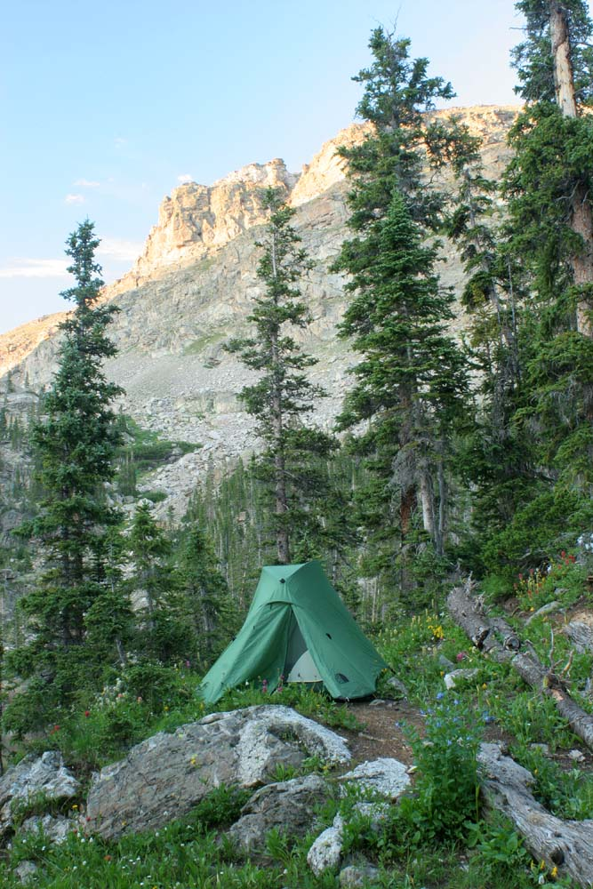 Indian Peaks camp