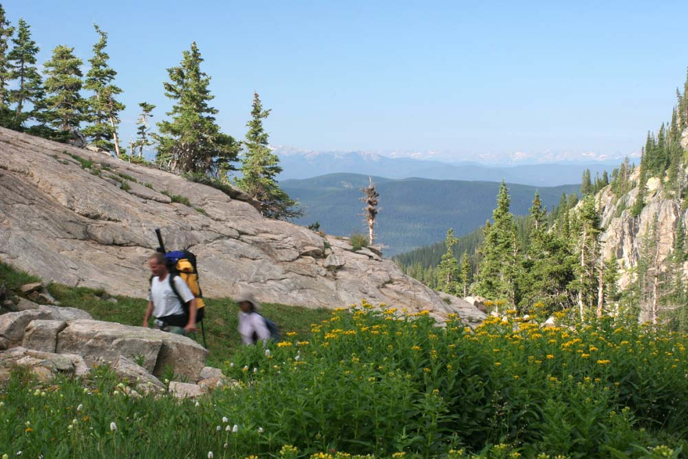 Hikers in Indian Peaks Wilderness
