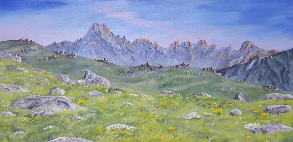 Rocky Mountain National Park Oil on Canvas