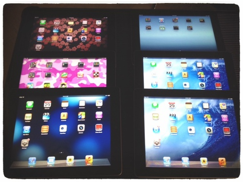 iPads before I started getting down to business.