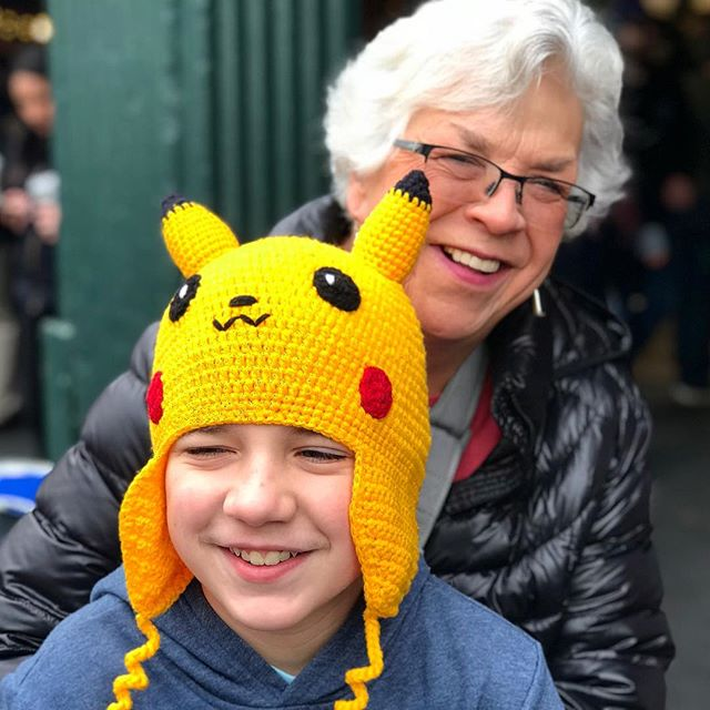 Michael sports his new #pikachu hat his grandma bought him. #pokemongo #seattle #latergram