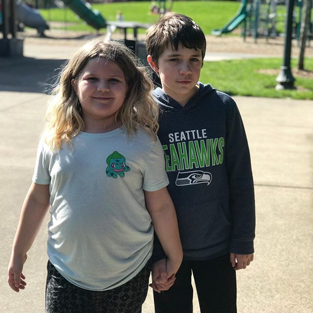 She may get frustrated with her brother sometimes, but she loves him. #autismawareness #autism
