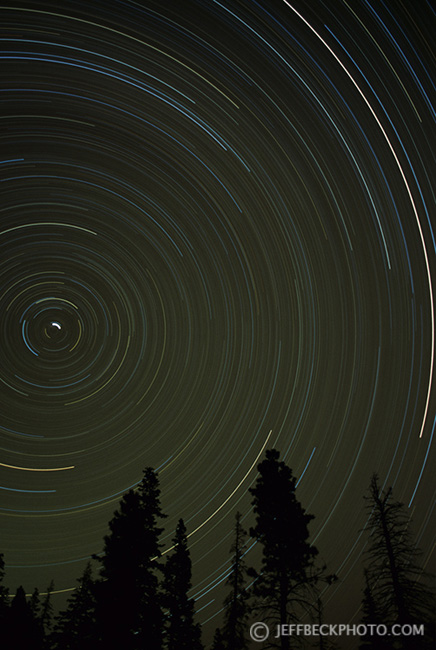 Star Trails from Lava Point