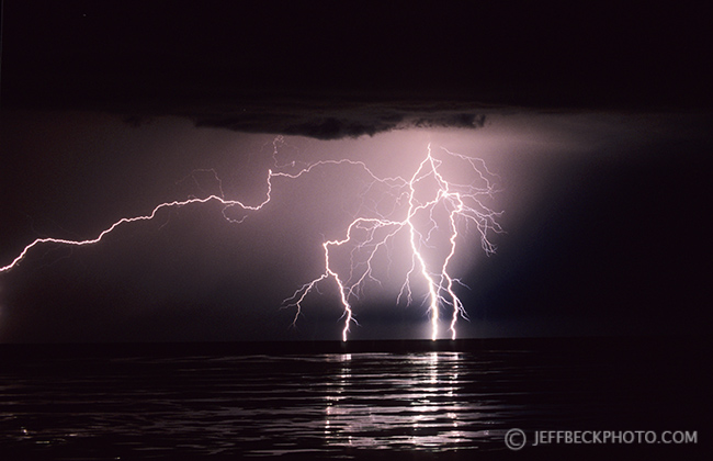 Lightning Strike, Great Salt Lake, Utah
